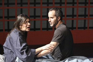 """Mina Badie and Jonathan Pessin in a scene from Kate Fodor's """"Rx"""" at Lost Studio in Los Angeles"""