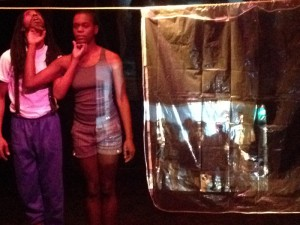 "Chris-Gerard and Jessica Emmanuel in Poor Dog Group's ""S.M.S.I.W.O.O.F."" at Son of Semele."