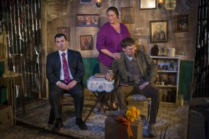 Steve Schine, Kirsten Fitzgerald and Lawrence Grimm in SOLSTICE at A Red Orchid Theatre