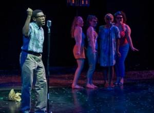 Brandon Markel Holmes as Jimmy with back up singers Christine Mayland Perkins, Kara Davidson, Ericka Ratcliff and Tamara White