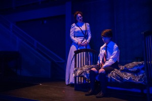 "Rebecca Sjöwall and Ariel Downs in Pacific Opera Project's production of ""The Turn of the Screw."" Photo by Martha Benedict."