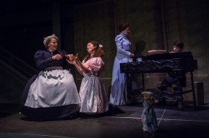 "Jennifer Wallace, Katy Tang, Rebecca Sjöwall and Ariel Downs in Pacific Opera Project's production of ""The Turn of the Screw."" Photo by Martha Benedict."