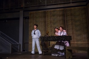 "Ariel Downs, Katy Tang and Rebecca Sjöwall in Pacific Opera Project's production of ""The Turn of the Screw."" Photo by Martha Benedict."