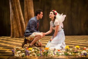 A.Z. Kelsey and Maya Kazan in Shakespeare's THE WINTER'S TALE at The Old Globe.