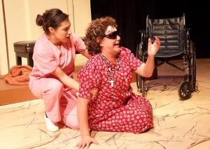 "Alex Ximenez and Blanca Araceli in Casa 0101's production of Josefina López' ""A Cat Named Mercy."""