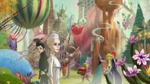 An anime Robin Wright in Ari Folman's film, THE CONGRESS.