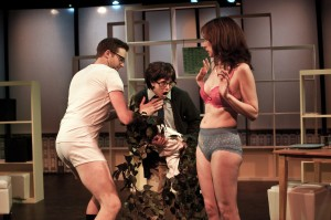 Andrew Blair, Michelle David & Margurite Stimpson in BRANCHED, A COMEDY WITH CONSEQUENCES, InViolet Repertory Theater Off-Off-Broadway at HERE Arts Center.