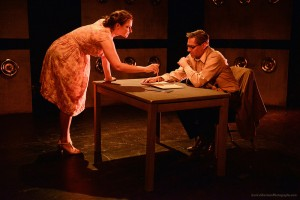 Betsy Moore as Joan Vollmer and Curt Bonnem as William S. Burroughs