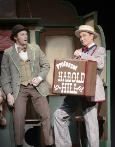 Brian Vickery and Davis Gaines as Harold Hill in Musical Theatre West's THE MUSIC MAN.