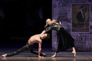Carsten Jung as Liliom and Anna Polikarpova as Mrs. Muskat in Hamburg Ballett's LILIOM. Photo by Holger Badekow.