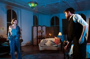 Casey Hayes-Deats and Jacob Trussell in Cake Shop Theater Company's PAINS OF YOUTH by Ferdinand Bruckner.
