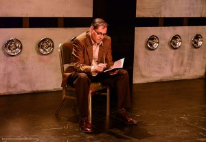 "Curt Bonnem as William S. Burroughs in ""Bill & Joan"" at Sacred Fools Theater Company."