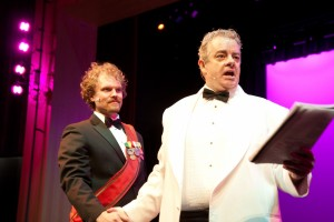 Dan Callaway and Joe Hart in Musical Theatre Guild's production of DEATH TAKES A HOLIDAY. (photo by Stan Chandler)