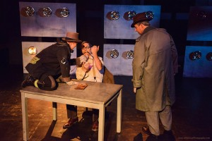 "Donnelle Fuller, Curt Bonnem and Bart Tangredi in ""Bill & Joan"" at Sacred Fools Theater Company."