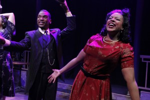 Donterrio Johnson and Sharriese Hamilton in Porchlight Music Theatre's 'Ain't Misbehavin' at Stage 773