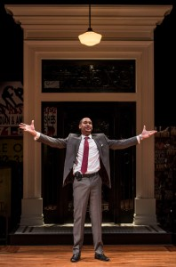 Eric Lynch (Jackson) in BUZZER by Tracey Scott Wilson, directed by Jessica Thebus at Goodman Theatre.
