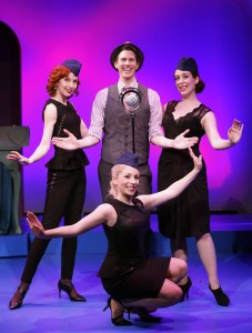Erin Maguire, John Thomas Fischer, Gretchen Wylder and Dana Wilson in a scene from TIL DIVORCE DO US PART, the original musical comedy revue at the DR2 Theatre.
