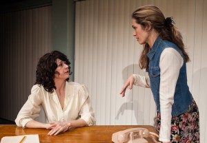 """Rebecca Gray and Amanda Saunders in Tommy Smith's """"Firemen,"""" directed by Chris Fields, Echo Theater Company at the Atwater Village Theater."""
