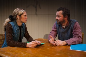 """Amanda Saunders and Michael McColl in Tommy Smith's """"Firemen,"""" directed by Chris Fields, Echo Theater Company at the Atwater Village Theater."""
