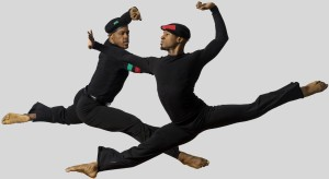 "Adryan Moorefield and Victor Lewis Jr., in ""There was...Is A Time"" part of JAMES BROWN: GET ON THE GOOD FOOT, A CELEBRATION IN DANCE."