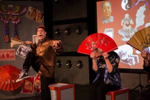 "Gregory Guy Gorden and Gina Torrecilla in ""China: The Whole Enchilada"" at Sacred Fools Theater Company."