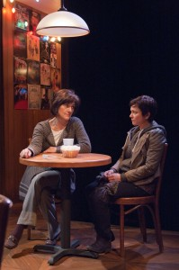 Elizabeth Ledo (right) as Rachel Hardeman and Janet Ulrich Brooks as Zelda Kahn, both brilliant evolutionary biologists who spar over differing views on evolution, feminism and generational divides in modern America in TimeLine Theatre's production of THE HOW AND THE WHY by Sarah Treem, directed by Keira Fromm, presented at TimeLine Theatre.