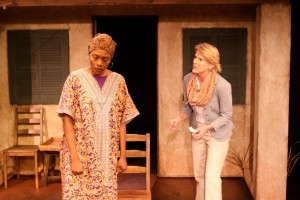Inger Tudor and Nan McNamara in Actors Co-op's production of GOING TO ST. IVES.