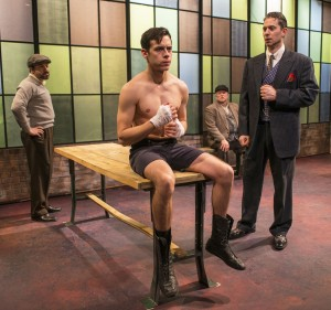 Jason Lindner, Nate Santana, Norm Woodel and David Prete in Griffin Theatre Company's production of GOLDEN BOY by Clifford Odets, directed by Jonathan Berry.