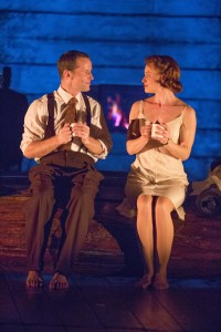 Jim Sturgeon and Hannah Yelland in Kneehigh's BRIEF ENCOUNTER at the Brad Goldsmith Theater, Wallis Annenberg Center.