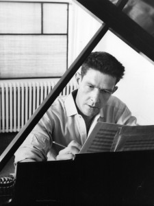 John Cage at the piano in 1947