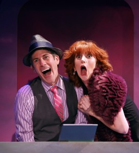 John Thomas Fischer and Erin Maguire in a scene from TIL DIVORCE DO US PART, the original musical comedy revue at the DR2 Theatre.