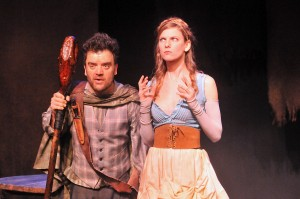 Kevin Weisman and Alana Dietze in Padua Playwright's VILLON at the Odyssey Theatre.