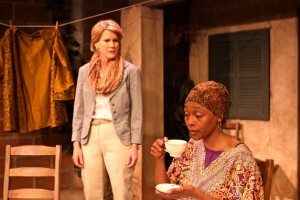 (L to R) Nan McNamara and Inger Tudor in Actors Co-op's production of GOING TO ST. IVES.