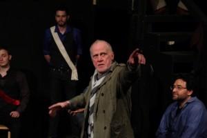 Leon Russom as Chorus in Porters of Hellsgate's production of HENRY V.
