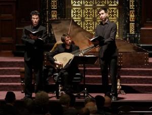 Lior Leibovici, Orí Harmelin and Dan Dunkelblum - Profeti Della Quinta perform IL MANTOVANO HEBREO at the Wilshire Temple in Los Angeles.