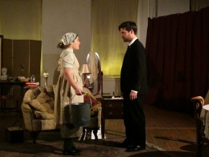 Lizi Myers and Jacob Trussell in Cake Shop Theater Company's PAINS OF YOUTH by Ferdinand Bruckner.