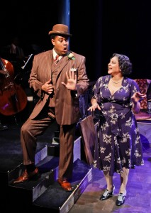 Lorenzo Rush, Jr. and Lina Wass in Porchlight Music Theatre's 'Ain't Misbehavin' at Stage 773