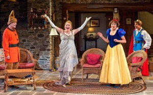 Mark Blum, Kristine Nielsen, Christine Ebersole, and David Hull in VANYA AND SONIA AND MASHA AND SPIKE at the Center Theatre Group's Mark Taper Forum.