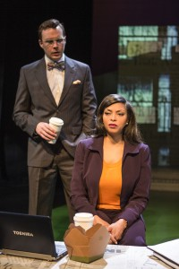 Mark Hildreth and Taraji P. Henson in ABOVE THE FOLD at the Pasadena Playhouse