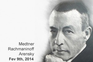 Medtner, Rachmaninoff and Arensky - Le Salon de Musiques POSTER