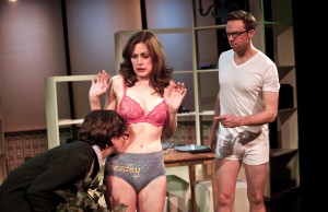 Michelle David , Margurite Stimpson  & Andrew Blair in BRANCHED, A COMEDY WITH CONSEQUENCES, InViolet Repertory Theater Off-Off-Broadway at HERE Arts Center.