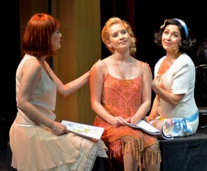 Misty Cotton, Ashley Fox Linton and Melissa Fahn in Musical Theatre Guild's production of DEATH TAKES A HOLIDAY. (photo by Stan Chandler)