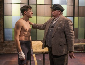 Nate Santana and Norm Woodel in Griffin Theatre Company's production of GOLDEN BOY by Clifford Odets, directed by Jonathan Berry.