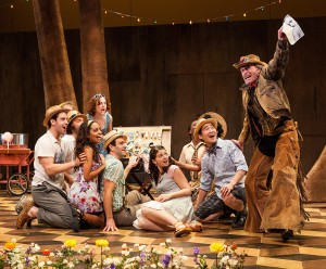 Paul Kandel (right) and the cast in Shakespeare's THE WINTER'S TALE at The Old Globe.