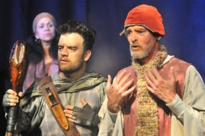 Peggy Ann Blow, Kevin Weisman, and Gray Palmer in Padua Playwright's VILLON at the Odyssey Theatre.