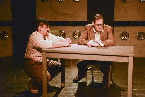 "Richard Azurdia and Curt Bonnem in ""Bill & Joan"" at Sacred Fools Theater Company."