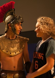 Robert Wallace and Devon Hadsell in LYSISTRATA JONES at the Chance Theater in Anaheim.