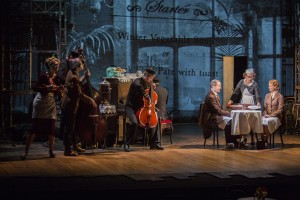 Scene from Kneehigh's BRIEF ENCOUNTER at the Brad Goldsmith Theater, Wallis Annenberg Center.