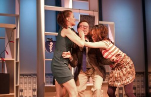 Tara Westwood , Andrew Blair & Margurite Stimpson in BRANCHED, A COMEDY WITH CONSEQUENCES, InViolet Repertory Theater Off-Off-Broadway at HERE Arts Center.