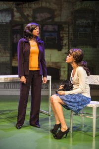 Taraji P. Henson and Kristy Johnson in ABOVE THE FOLD at the Pasadena Playhouse.